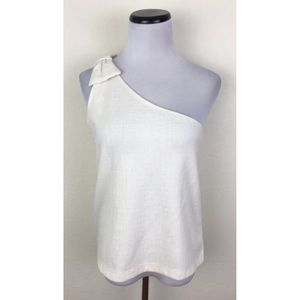 NWT J. Crew Factory One Shoulder Bow Tank Top